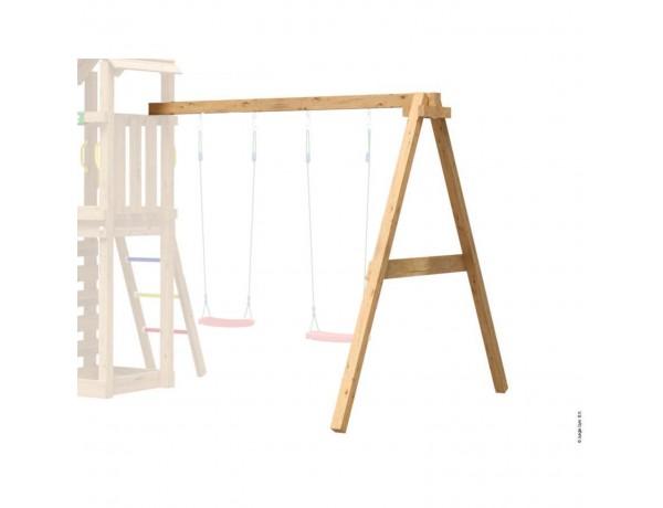 Kerti játszótér - Jungle Gym Swing Frame 2 modul (9x9 oszlopból)